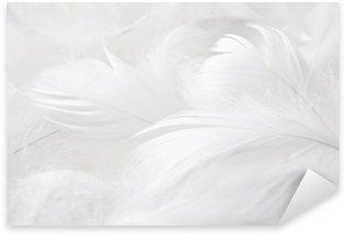 Sticker - Pixerstick Weiße Federn