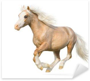 Sticker Pixerstick Welsh poney au galop