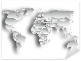 Watercolor world map poster sticker pixers we live to change welt karte pixerstick sticker gumiabroncs Choice Image