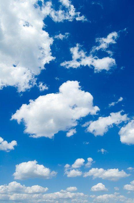 Sticker - Pixerstick White clouds in the blue sky. Cloudscape -