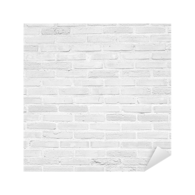 White grunge brick wall texture background Sticker ...
