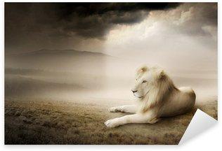 Sticker - Pixerstick White lion at sunset