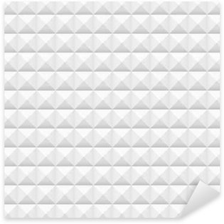 Sticker - Pixerstick White tiles, squares, vector illustration, seamless pattern