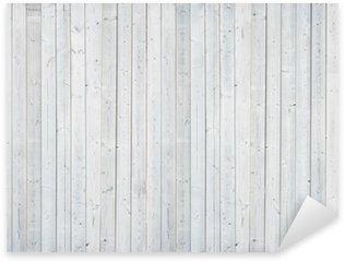 Sticker - Pixerstick white wood wall