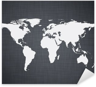 White world map. Sticker - Pixerstick