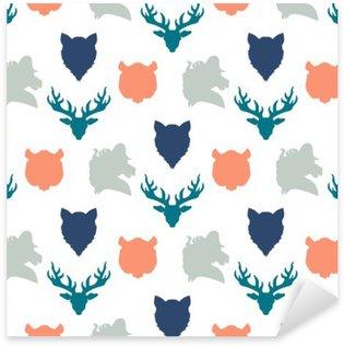 Pixerstick Sticker Wildlife naadloos patroon