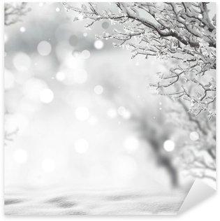 Sticker - Pixerstick winter background