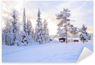 Sticker - Pixerstick Winter landscape
