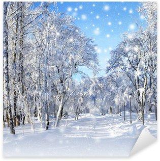 Sticker - Pixerstick Winter scenery, snowstorm
