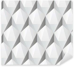 Pixerstick Sticker Witte 3d abstract naadloze textuur