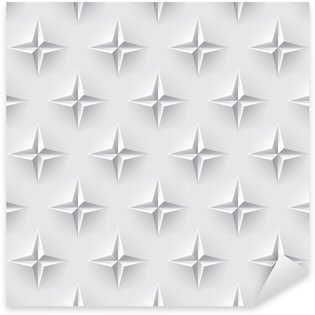 Pixerstick Sticker Witte 3d naadloze textuur