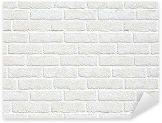 Pixerstick Sticker Witte bakstenen muur achtergrond.