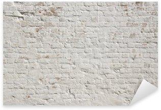 Pixerstick Sticker Witte grunge bakstenen muur achtergrond