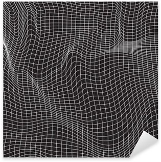 Pixerstick Sticker Witte lijnen, abstractie samenstelling, bergen, vectorontwerpachtergrond