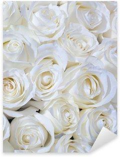 Pixerstick Sticker Witte rozen achtergrond