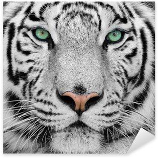 Pixerstick Sticker Witte tijger