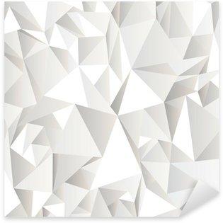 Pixerstick Sticker Witte verfrommeld abstracte achtergrond