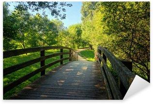 Pixerstick for All Surfaces wooden bridge on park