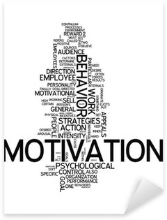 "Sticker Pixerstick Word Cloud ""Motivation"""