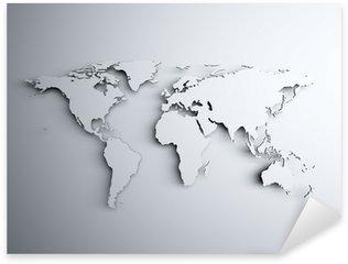 World map 3D Sticker - Pixerstick