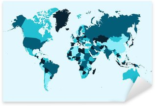 Vector world map sticker pixers we live to change world map blue countries illustration eps10 vector file pixerstick sticker gumiabroncs Images