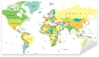 World map sticker pixers we live to change world map highly detailed vector illustration pixerstick sticker gumiabroncs Images
