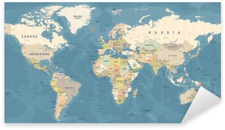 Political world map sticker pixers we live to change world map vector detailed illustration of worldmap pixerstick sticker gumiabroncs Images