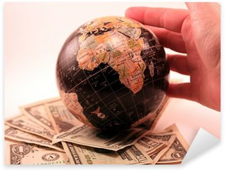 World Market Business Economy Globe Sticker - Pixerstick