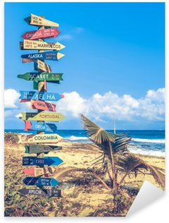 World travel signpost