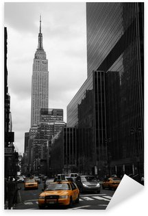 Yellow taxis on 35th street, Manhattan, New York Sticker - Pixerstick