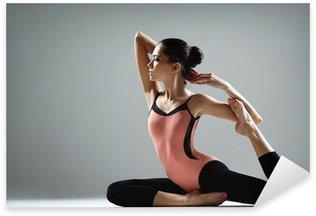 Pixerstick Sticker Yoga Oefening