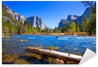 Sticker - Pixerstick Yosemite Merced River el Capitan and Half Dome