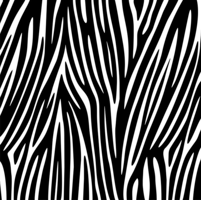 Sticker - Pixerstick Zebra Texture Vector - Styles