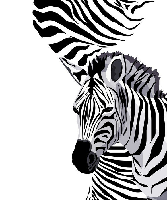 Sticker - Pixerstick Zebra - Africa