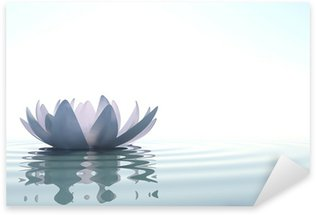 Pixerstick Sticker Zen bloem loto in water