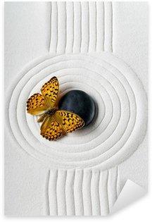 Pixerstick Sticker Zen stenen met vlinder