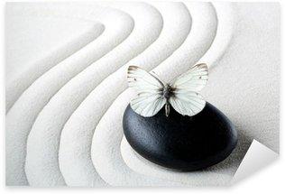 Sticker Pixerstick Zen stone avec papillon