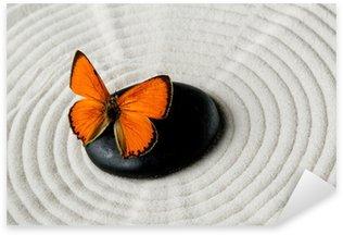Sticker - Pixerstick Zen stone with butterfly