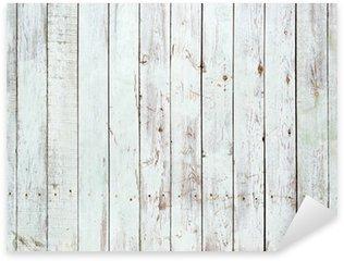Pixerstick Sticker Zwarte en witte achtergrond van houten plank