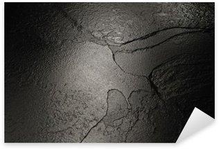 Pixerstick Sticker Zwarte steen textuur achtergrond.
