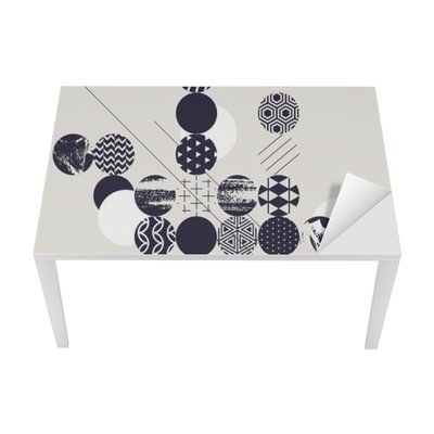Abstract modern geometric background Table & Desk Veneer