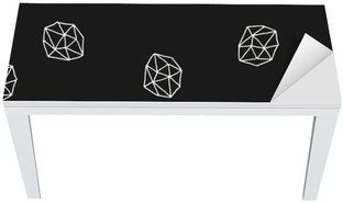 Abstract Polygons Seamless Pattern Table & Desk Veneer