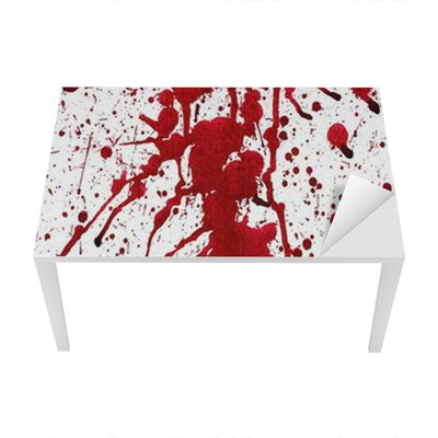 Bloody splashes Table & Desk Veneer