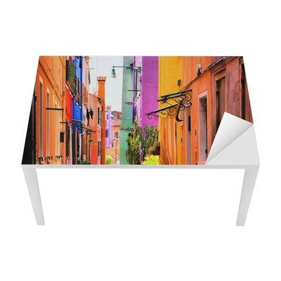 Colorful street in Italy Table & Desk Veneer