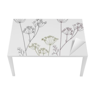 Dill or fennel flowers and leaves. Table & Desk Veneer