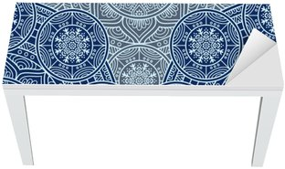 Ethnic floral seamless pattern Table & Desk Veneer