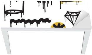 Graffiti seamless pattern Table & Desk Veneer
