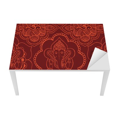 Indian seamless pattern with ornament Table & Desk Veneer