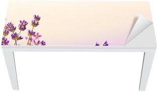 Table & Desk Veneer Lavender flowers bloom summer time