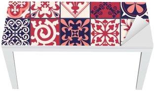 Moroccan tiles Pattern Table & Desk Veneer